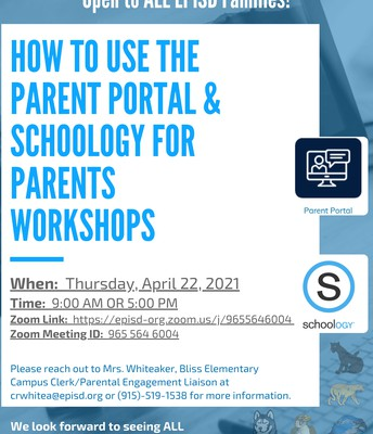 How to Use the Parent Portal & Schoology for Parents Workshop
