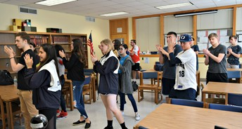 Dancing in the OHS Library!