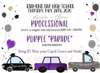 Drive-thru Processional & Purple Parade!