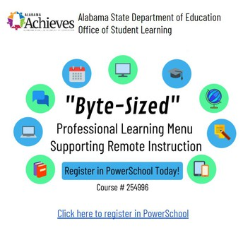"""ALSDE-OSL October """"Byte-Sized"""" Professional Learning Options"""