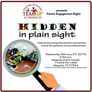 TEAM UP: Parent and Community Engagement Night Hidden In Plain Sight