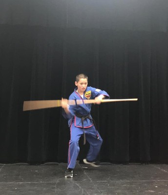 Aaron Castic with his bow staff performance!