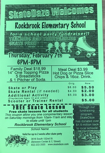 Rockbrook SkateDaze Party - February 7th