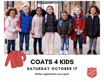 COATS FOR KIDS ONLINE REGISTRATION IS OPEN
