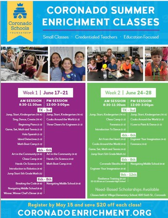 Message from CSF- Summer Enrichment is back!