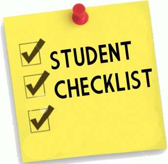 Checklists Sent Home Today, Thursday, 12/3