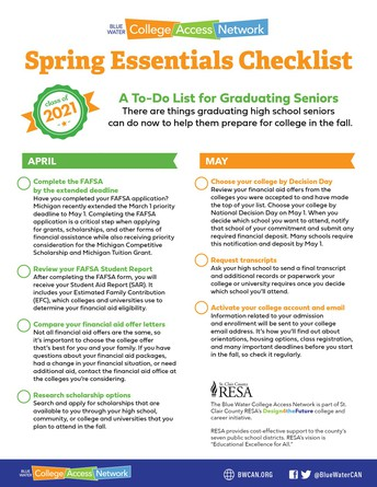 Spring Essentials Checklist: A To-do for Graduating Seniors