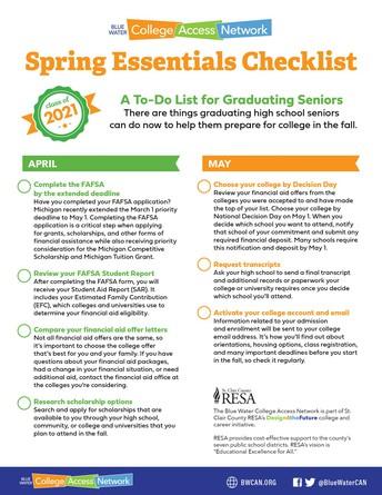 Spring Essentials Checklist: A To-do for Graduating Seniors