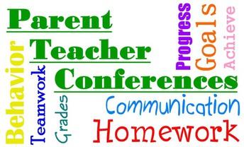 Parent Teacher Conferences: December 7, 8, 10, 11, 14 ,15
