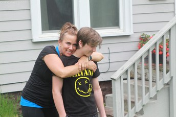 Christian Hammond and His Mother