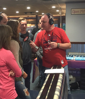 Students on WIL 92.3 Broadcast at Gingham's