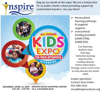 RIVERSIDE - ALL THINGS KIDS EXPO APRIL 13