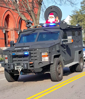 Does SWAT Santa live in the North Pole? Maybe that is how the gifts get delivered so quickly on Christmas Eve?