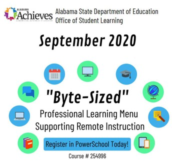 "ALSDE-OSL September ""Byte-Sized"" Professional Learning Options"