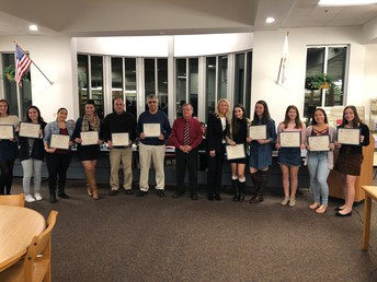 NPHS DIvision III State Girls' Tennis Champions Receive Special Recognition from our School Committee