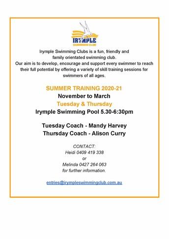 Irymple Swimming Club