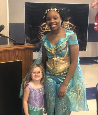 Princess Sayada Burns with Ariel
