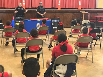 Career day with Uvalde Police Dept. 3/26/2021