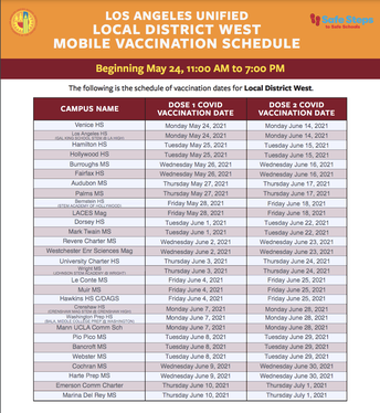 Mobile Vaccination Schedule (English)