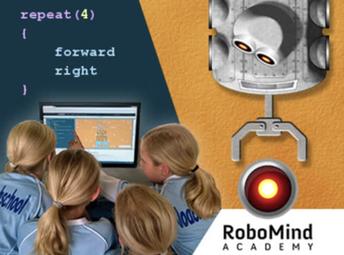 Program a virtual robot with Robomin