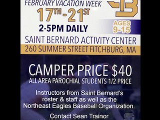 BASEBALL CAMP OVER WINTER BREAK