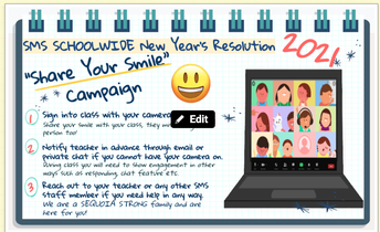 "REPOST- Help support our 2021 SMS Resolution ""Share Your Smile"" Campaign- PLEASE READ!"