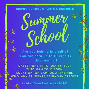 Summer School Offered for June 14 - July 14