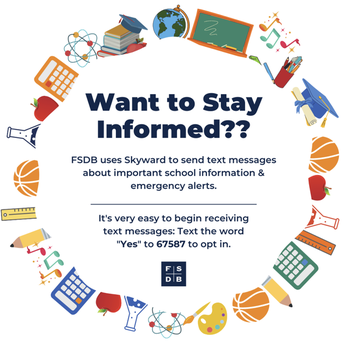Graphic for Skyward Text Message opt-in