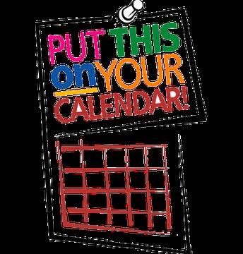 Mark Your Calendars~