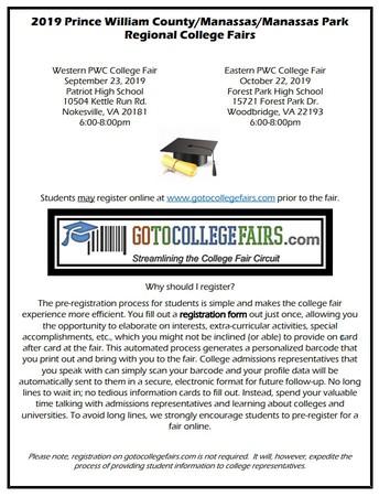 2019 Regional College Fairs