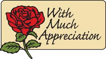 Special Word of Appreciation