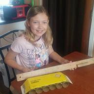 Sammy working on a bridge for Mrs. Oddie