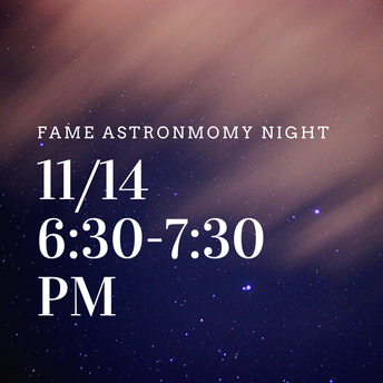 FAME Astronomy Night!