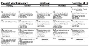 Breakfast November