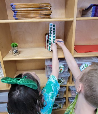 St. Patrick's Day fun measuring with shamrock rulers