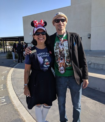 Mr. Lundholm and Mayor Trish!