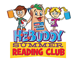 HEB summer reading club with heb buddy and friends