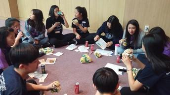 Enjoying lunch at KIMEA Honor Choir Festival