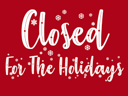 Offices closed for the holidays