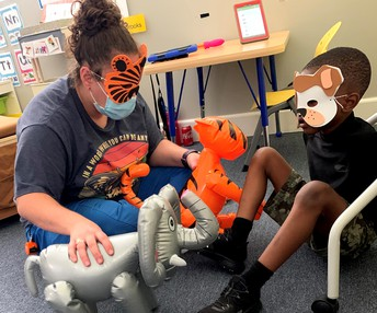 Fun with zoo animals and masks!