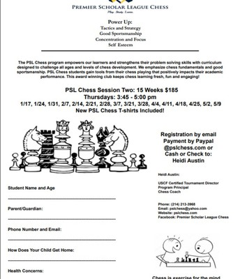 PSL Chess Flyer-2nd semester