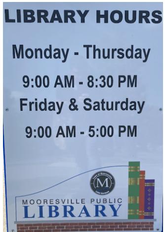 Mooresville Public Library Summer Reading Information