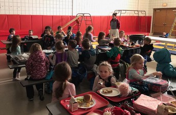 Students were treated to a very special lunch