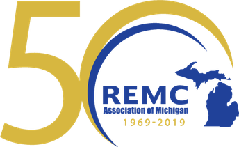 REMC Association of Michigan 50 Year Logo