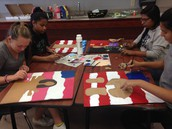 Students then created paintings