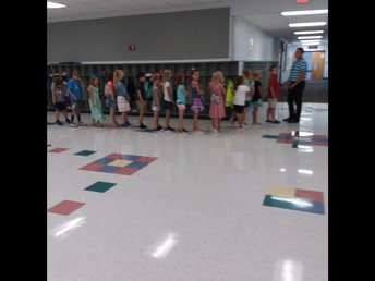 Zero in the hall and working on routines/procedures.