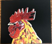 Collage Rooster