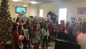 Singing at East Texas Professional Credit Union
