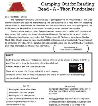 Rockbrook Read-A-Thon 2020