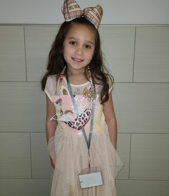 February Student of the Month - Samantha Garza from Mrs. Cryer's Kindergarten Class.
